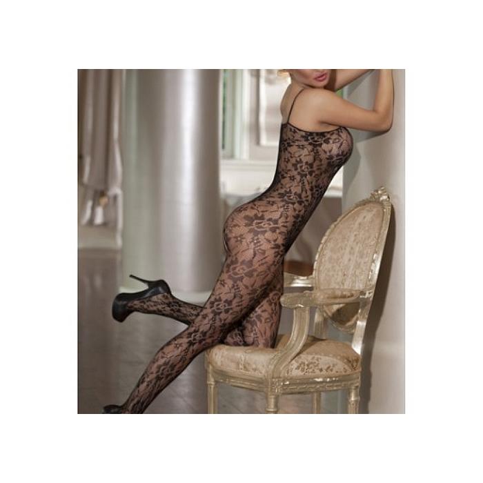 Spandex Women Sexy Bodystocking Bodysuit Long Sleeves Sheer Lingerie Nightwear