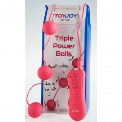 Pembe Triple Power Balls Anal Vajinal Top